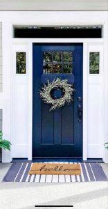 Входна врата цвят син